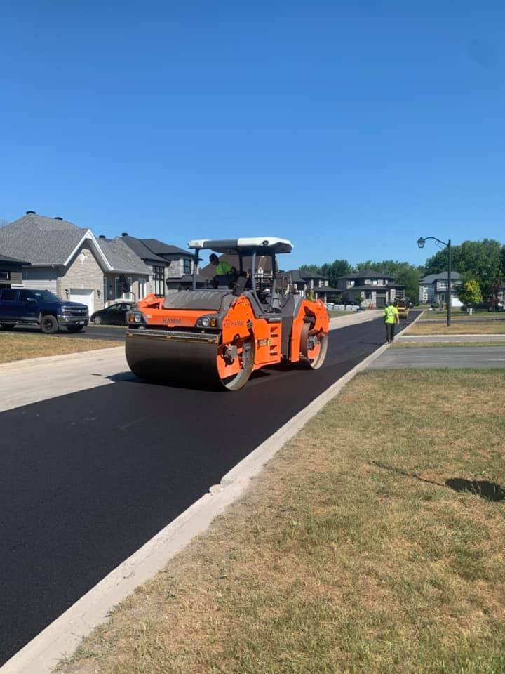 Asphalte JRL Paving roads roller
