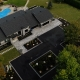 Asphalte JRL Paving residential driveway aerial view